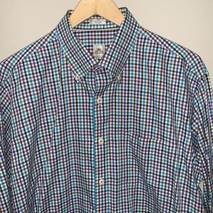 Peter Millar Mens Button up Shirt Check